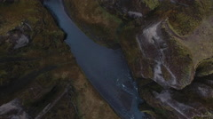 River Canyon Aerial Stock Footage