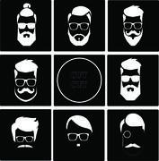 Icon set for barbershop Stock Illustration