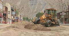 Helper Utah road construction downtown Main Street DCI 4K Stock Footage