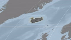 Iceland - 3D tube zoom (Kavrayskiy VII projection). Bumps - stock footage