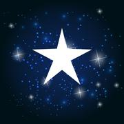 Night Star Sky Vector Illustration Background Stock Illustration