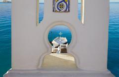Benidorm Mirador del Castillo lookout Alicante - stock photo