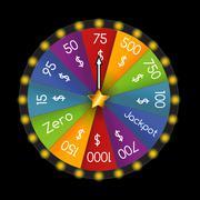 Wheel of Fortune, Lucky. Vector Illustration - stock illustration