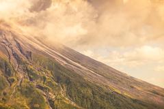 Close Up Of Tungurahua Volcano Day Explosion Stock Photos