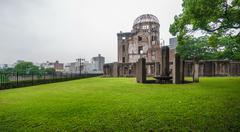 Hiroshima Bomb Dome in Japan. - stock photo