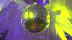 Rotating mirror ball Stock Footage