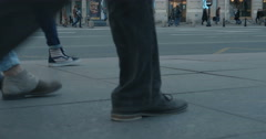 Legs of people on the street Stock Footage