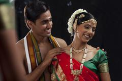 South Indian couple Stock Photos