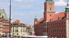 Castle on the Old Town in Warsaw - stock footage