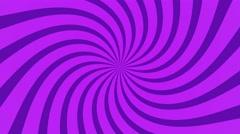radial swirl rising sun vortex motion background loop purple - stock footage