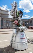 "Space rocket engine NK-33 by the Corporation ""Kuznetsov"" Stock Photos"