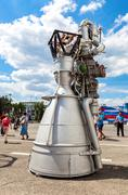 "Space rocket engine NK-33 by the Corporation ""Kuznetsov"" Stock Photos"