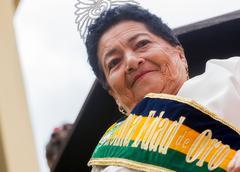 Golden Queen In Banos De Agua Santa - stock photo