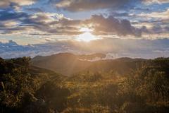 South America Andean Cordillera Stock Photos