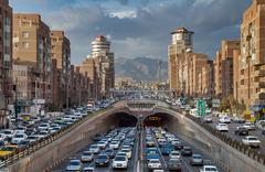 Traffic Congestion in Tohid Tunnel of Tehran Kuvituskuvat