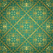 Abstract gold ornament. - stock illustration
