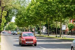 The Roman Square (Piata Romana) In Bucharest - stock photo