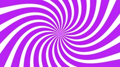 radial swirl rising sun vortex motion background loop purple and white - stock footage