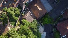 Aerial Santa Teresa neighbourhood hills Rio de Janeiro Stock Footage