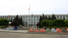 View Government House in CHISINAU MOLDOVA  Stock Footage