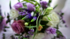 close-up bouquet flowers - stock footage