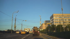 Summer early morning on the center in Moscow, Stock Footage