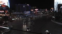 Nightlife On Las Vegas Boulevard Stock Footage