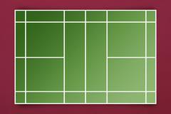 Composite image of tennis field plan - stock illustration