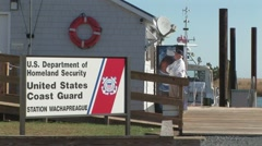 Coast Guard Small Boat Station Stock Footage