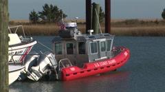 Coast Guard boat Stock Footage