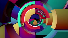 Concentric Rotating Arcs VJ Loop - stock footage