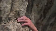 Female Boulder Climber at Rocks 4K Stock Footage