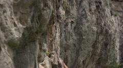 Female Climber Elegant Bouldering 4K Stock Footage