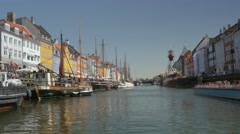 Touristic harbor in Copenhagen Stock Footage