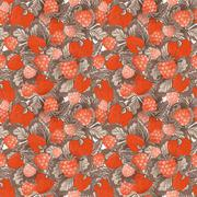 Natural organic berries seamless pattern. Vector - stock illustration