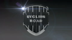 Cycling Road - Chrome Stock Footage