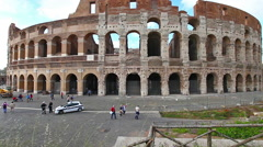 The coliseum in Rome Stock Footage