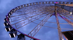 Interesting viewing of roue de Paris in Paris Stock Footage
