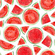 Pattern with watermelon Stock Illustration