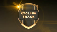 Cycling Track - Orange Stock Footage