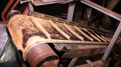 Transportation line at the tea factory in Nuwara Eliya, Sri Lanka. Stock Footage