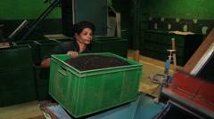 Woman works at the tea factory in Nuwara Eliya, Sri Lanka. Stock Footage