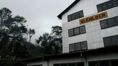 Exterior of the Glenloch tea factory building in Nuwara Eliya, Sri Lanka. Stock Footage