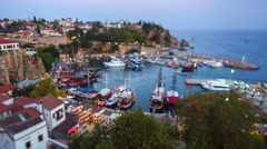 Timelapse of the Old Harbour in Antalya, Turkey Stock Footage