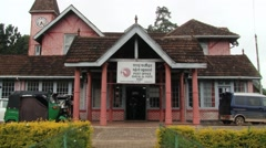 Exterior of the colonial post office building in Nuwara Eliya, Sri Lanka. Stock Footage