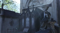 The memorial in Pere Lachaise in Paris - stock footage