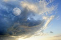 Moon Clouds - stock photo
