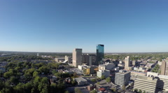 Aerial of Downtown Lexington, Kentucky Stock Footage