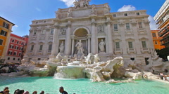 One of the most famous fountain  Trevi Fountai in the world. Rome, Lazio, Italy. Stock Footage