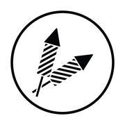 Party petard  icon - stock illustration